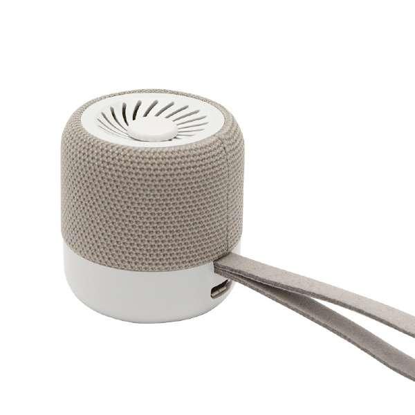 KWQ1-AGR ブルートゥーススピーカー KIWI アッシュグレー [Bluetooth対応]