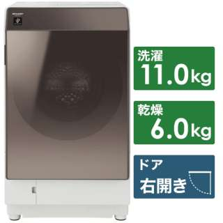 ES-G112-TR ドラム式洗濯乾燥機 ブラウン系 [洗濯11.0kg /乾燥6.0kg /ヒートポンプ乾燥 /右開き]