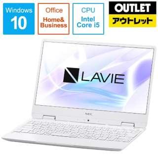 【アウトレット品】 12.5型ノートPC [Office付・Core i5・SSD 256GB・メモリ 8GB] LAVIE Note Mobile(NM550/MAシリーズ)  PC-NM550MAW パールホワイト 【外装不良品】