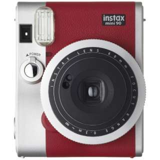 【数量限定】インスタントカメラ instax mini 90 『チェキ』 ネオクラシック レッド
