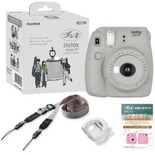 インスタントカメラ 『チェキ』 instax mini 8+(プラス) 純正ショルダーストラップ付 SESAME(セサミ)