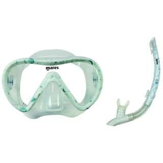 シュノーケリング用 マスク+シュノーケル 2点セット VENTO ENERGY SET(ベントエナジーセット/バブル) 481105