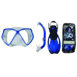 子供用 シュノーケリング用 マスク+シュノーケル 3点セット ALLEGRA PIRATE SET(アレグラ ピラテ セット/ブルー/LXサイズ) 480126