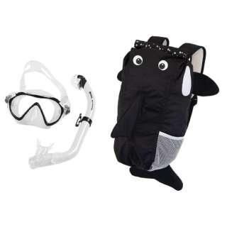 子供用 シュノーケリング用 マスク+シュノーケル+メッシュバッグ 3点セット SEA FRIENDS(シーフレンズ/WHITE:シャチ) 481110