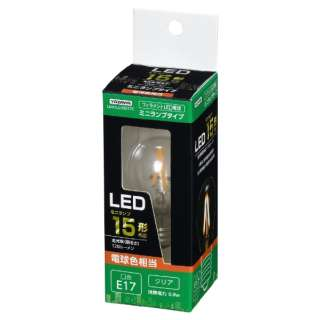 S35ミニランプ形LED L色 CL 15W形相当 LDA1LG35E17C