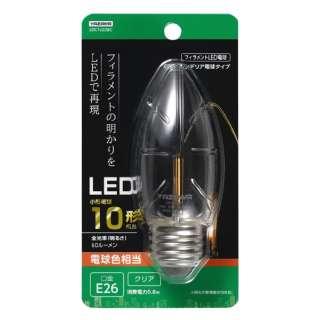 C36シャンデリア形LED E26 L色 CL 10W形相当 LDC1LG36C