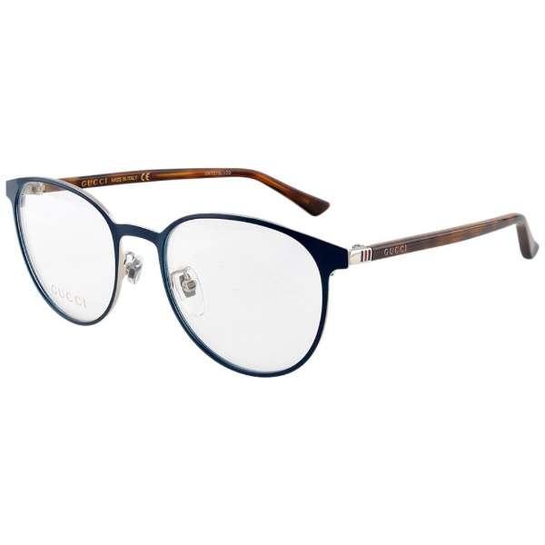 【度無しクリアレンズ】GUCCI メガネセット(ブルー)GG0293O-004[薄型/屈折率1.60/非球面/PCレンズ]