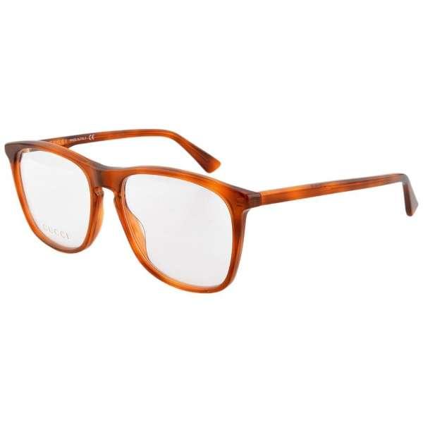 【度付き】GUCCI メガネセット(ハバナ)GG0332O-006[薄型/屈折率1.60/非球面/PCレンズ]
