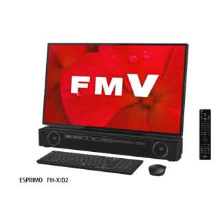 FMVFXD2B デスクトップパソコン ESPRIMO FH-X/D2 オーシャンブラック [27型 /HDD:3TB /Optane:16GB /メモリ:8GB /2019年夏モデル]