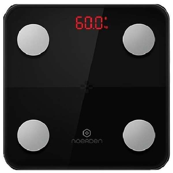 MINIMI Smart Body Scale Black ブラック PNS0001 [スマホ管理機能あり]