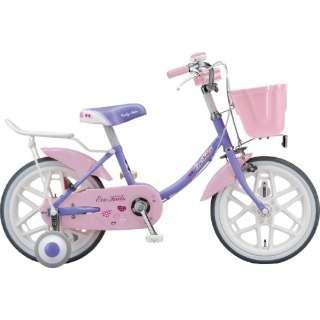 16型 子供用自転車 エコキッズ カラフル(ラベンダー&ピンク/シングルシフト)EKC16 【組立商品につき返品不可】