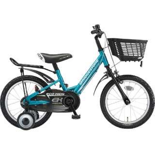 14型 子供用自転車 エコキッズ スポーツ(グリーン&ブラック/シングルシフト)EKS14 【組立商品につき返品不可】