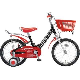 18型 子供用自転車 エコキッズ スポーツ(ブラック&レッド/シングルシフト)EKS18 【組立商品につき返品不可】
