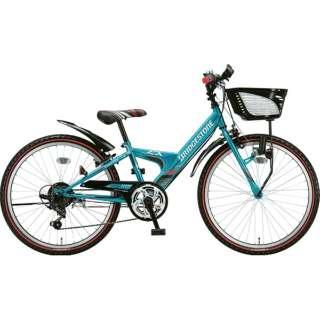 24型 子供用自転車 エクスプレス ジュニア(エメラルドグリーン/6段変速)EXJ46【ダイナモランプモデル】【2019年モデル】 【組立商品につき返品不可】