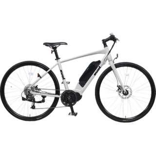 【eバイク】 700×32C 電動アシスト自転車 evolC700(パールホワイト/9段変速)EAC700 【組立商品につき返品不可】