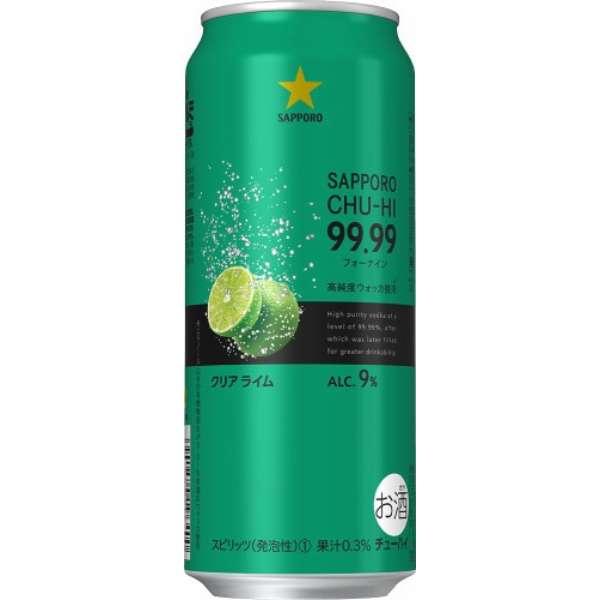 [数量限定] 99.99(フォーナイン) クリアライム (500ml/24本)【缶チューハイ】