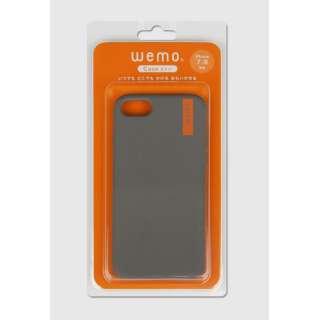 wemo ウェアラブルメモ ケースタイプiPhone 7/8用 ダークグレー