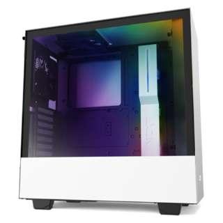 高いコストパフォーマンスとスマートな外観のインテリジェントPCケース 【ATXMicroATXMini-ITX】 CA-H510I-W1 ホワイト/ホワイト