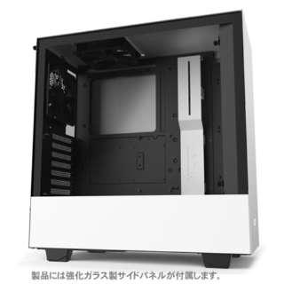 高いコストパフォーマンスとスマートな外観のPCケース 【ATX / MicroATX / Mini-ITX】 CA-H510B-W1 ホワイト/ホワイト