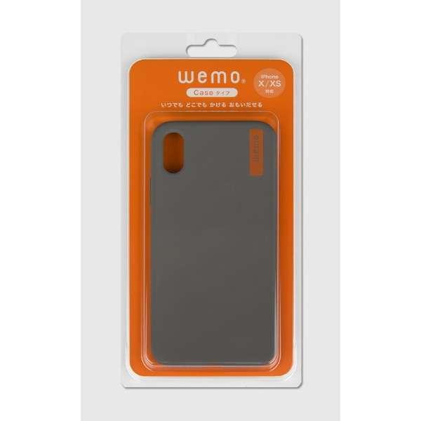 wemo ウェアラブルメモ ケースタイプiPhone X/XS用 ダークグレー WEMO-CDG-XXS
