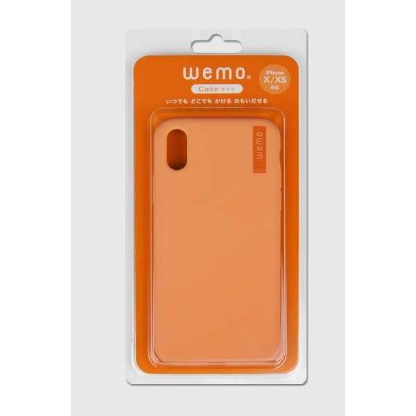 wemo ウェアラブルメモ ケースタイプiPhone X/XS用 コーラルレッド WEMO-CCR-XXS