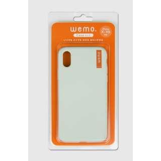 wemo ウェアラブルメモ ケースタイプiPhone X/XS用 ペールグリーン WEMO-CPG-XXS