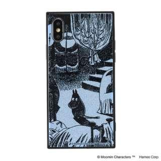 [iPhone XS/X専用]ムーミン TILEケース 151-910306 ムーミン/月明りの部屋