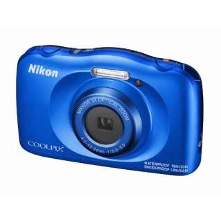 W150BL コンパクトデジタルカメラ COOLPIX(クールピクス) ブルー [防水+防塵+耐衝撃]