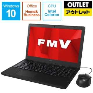 【アウトレット品】 15.6型ノートPC [Office付・Celeron・HDD 1TB・メモリ 4GB] LIFEBOOK AH42/D1  FMVA42D1B シャイニーブラック 【外装不良品】