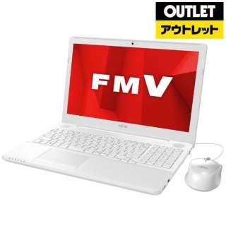 【アウトレット品】 15.6型ノートPC [Win10 Home・Celeron・HDD 1TB・メモリ 4GB・Office] LIFEBOOK AH42/D1  FMVA42D1W プレミアムホワイト 【外装不良品】