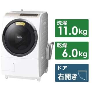 BD-SV110ER-W ドラム式洗濯乾燥機 ビッグドラム ホワイト [洗濯11.0kg /乾燥6.0kg /ヒーター乾燥(水冷・除湿タイプ) /右開き]