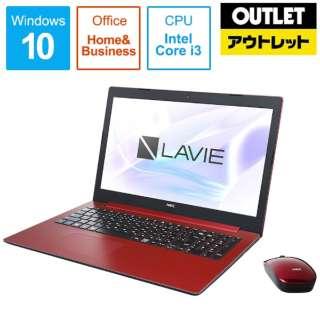 【アウトレット品】 15.6型ノートPC [Office付・Core i3・HDD 1TB・Optane 16GB・メモリ 4GB] LAVIE Note Standard(NS300/MAシリーズ)  PC-NS300MAR カームレッド 【外装不良品】