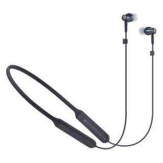 ブルートゥースイヤホン カナル型 ブラック ATH-CKR500BT BK [リモコン・マイク対応 /ワイヤレス(ネックバンド) /Bluetooth]