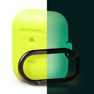 elago AIRPODS HANG CASE for AirPods 2nd Generation Wireless Charging Case for AirPods 2nd Wireless (Neon Yellow)