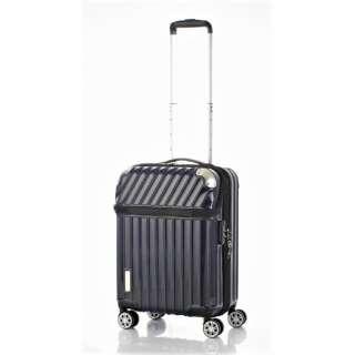スーツケース 35L(43L) TRAVERIST(トラベリスト)MOMENT(モーメント) カーボンネイビー 76-20294 [TSAロック搭載]