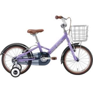16型 子供用自転車 K16 plus 220mm(LAVENDER/シングルシフト) 【組立商品につき返品不可】