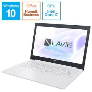 LAVIE Note Standard ノートパソコン カームホワイト PC-NS70CMAW [15.6型 /intel Core i7 /SSD:256GB /メモリ:4GB /2019年8月モデル]