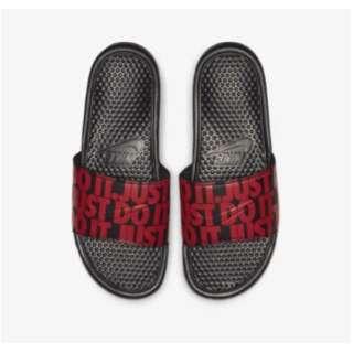メンズ スライド ナイキ ベナッシ JDI プリンテッド Nike Benassi JDI Printed(27.0cm/ブラック×ユニバーシティレッド)631261-025