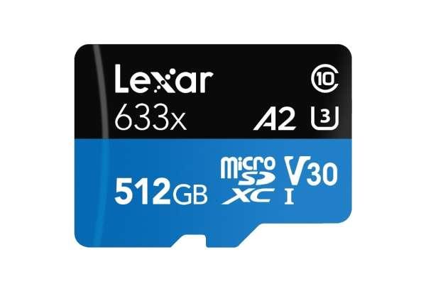 マイクロSDカードのおすすめ15選 レキサー 「Lexar High-Performance 633x 」 LSDMI512BBJP633A(512GB)