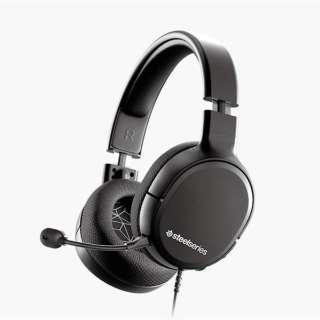 61427 ゲーミングヘッドセット Arctis 1 STEELSERIES ブラック [φ3.5mmミニプラグ /両耳 /ヘッドバンドタイプ]