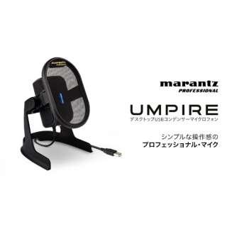 ポッドキャスト/放送用コンデンサーUSBマイク Umpire 黒