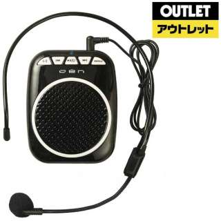 【アウトレット品】 OEN ポータブル拡声器 OLS-5BK ブラック 【数量限定品】