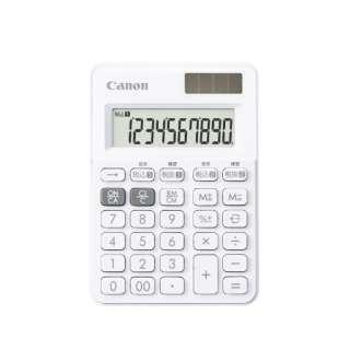 W税ミニミニ電卓 Snow White LS-100WT-SW [W税率対応 /10桁]