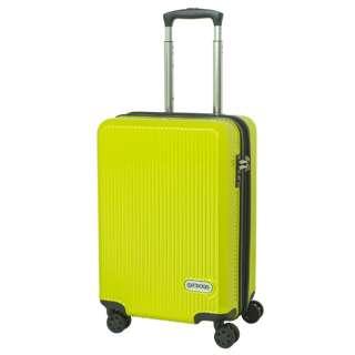 スーツケース 拡張式Wホイールファスナーキャリー  40L(45L) ライムグリーン OD-0808-50-GN [TSAロック搭載]