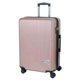スーツケース 拡張式Wホイールファスナーキャリー  66L(74L) ピンク OD-0808-60-PK [TSAロック搭載]
