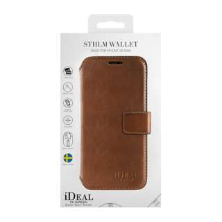 iPhone Xs Max用ウォレットケース スリムブラウン IDSTHW-I1865-03