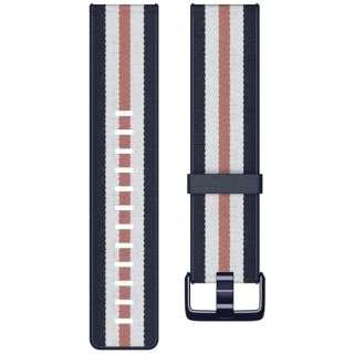 Fitbit  Versa/Versa Lite/Versa SE 専用 ウーブンハイブリッドバンド Navy/Pink Lサイズ FB166WBNVPKL ネイビー/ピンク