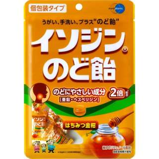 【店舗のみの販売】 イソジンのど飴はちみつ金柑54g