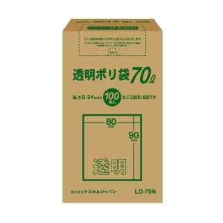 CJ(ケミカルジャパン)透明ポリ袋70L BOX100P LD-70N