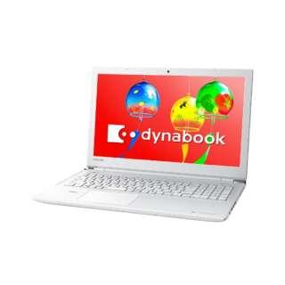 P1B2JPDW ノートパソコン dynabook (ダイナブック) リュクスホワイト [15.6型 /intel Celeron /HDD:500GB /メモリ:4GB /2019年3月モデル]
